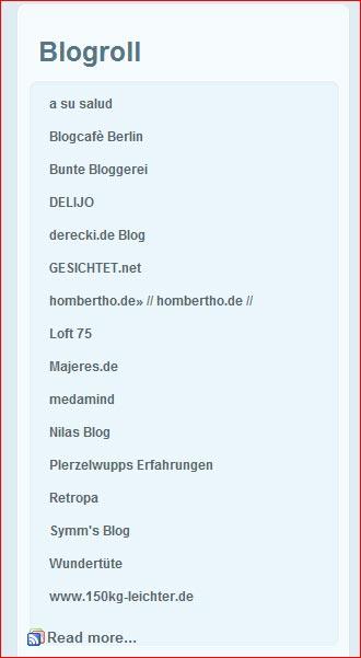 Screenshot Blogroll