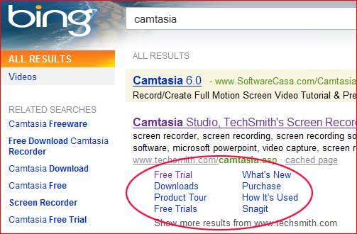 Bing Software Suche