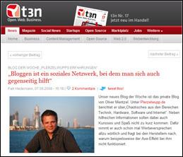 Blog der Woche bei t3n