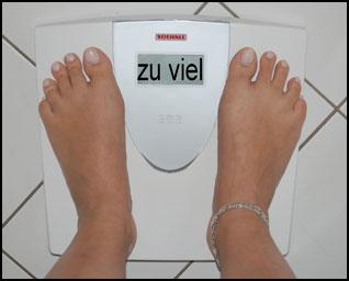 zu viel Gewicht