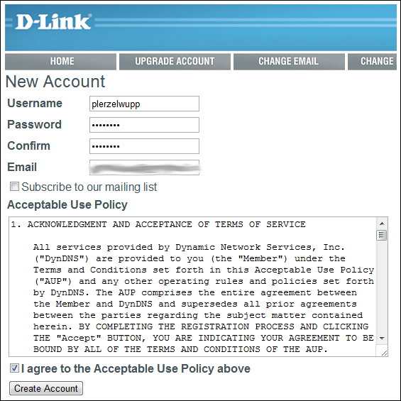 DynDNS kostenlos über D-Link einrichten