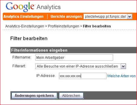Analytics-Einstellung